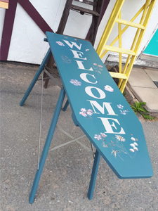 upcycled ironing board