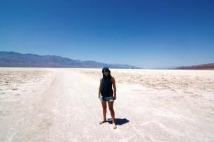 Calor en Death Valley en abril