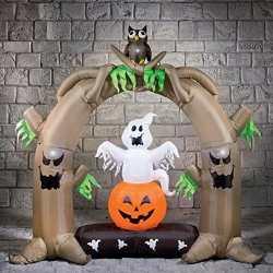 2 m gonfiabile Halloween arco con gufi Spooky idee fantastiche