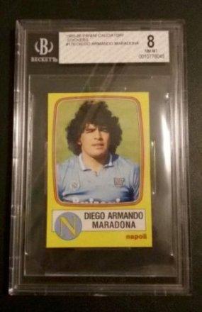 Regali per uomo  DiegoMaradonaFigurinaStickerPaniniCalciatori198586NapoliBGS8NearMint-Regalo Rara Figurina  Diego Armando Maradona - Panini Calciatori 1985-86