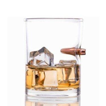Regali per uomo  LodgedBulletShotGlass-Regalo Bicchiere con proiettile