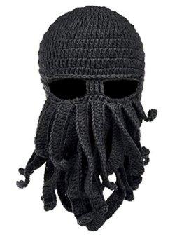 gadget Cappello di lana Maschera da Polpo Barba Nero