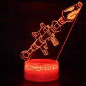 lampada 3d Fortnite soggetto bazooka