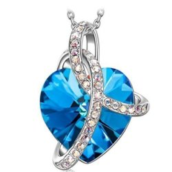 Amore Cuore ciondolo cuore con cristalli di Swarovski