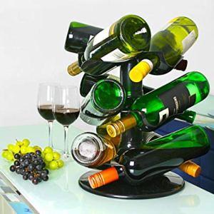 Casa & Ufficio  bar@drinkstuff-Portabottigliegirevoleper9bottiglie-Regalo Portabottiglie girevole by bar@drinkstuff