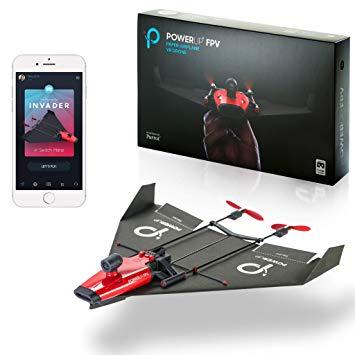 Gadget  PowerUPPOWERUPFPV-TrasformaUnAeroplanodiCartainDr-Regalo Aereoplanino-Drone di carta  Power^UP POWERUP FPV