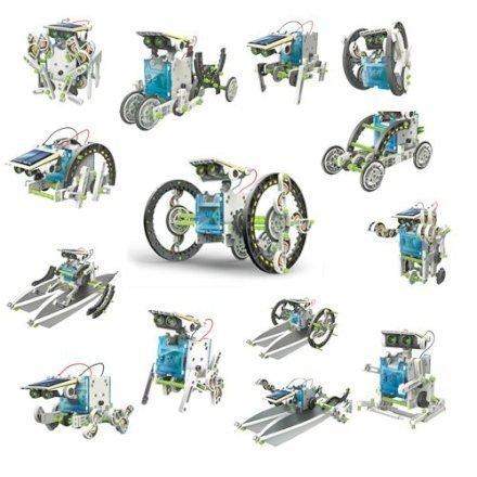 Gadget Regali per Ragazzi  ItsImagical66886-SetCostruzioni14X1Eco-Robot-Regalo Set Costruzioni 14X1 robot ad energia solare