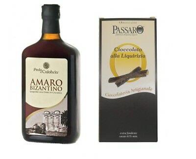 Idea Regalo Pasqua 2019 Amaro Bizantino e Cioccolato Extra Fondente Liquirizia