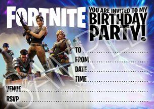 Feste e Anniversari Gadget Guide Regali per Ragazzi  invitoFestaFortnite Come organizzare un compleanno a tema Fortnite