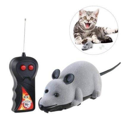 Amici Animali  ROSENICETelecomandoTopogattogiocattolopeluchedisimul-Regalo ROSENICE Gioco per gatti - topo telecomandato