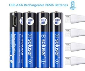 Batterie Ricaricabili USB