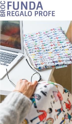 funda para portatil personalizada regalos para profesores dibujos mr broc
