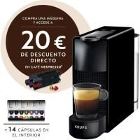 Cafetera nespresso Krups mini essenza pack de capsulas. Amantes del café