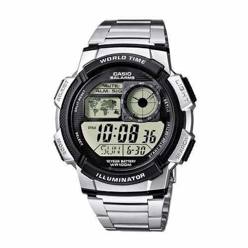 Reloj Casio Ae-1000wd Hombre Malla Acero Wr100m Sumergible - Regalos Alvear ba5ade5e89c1