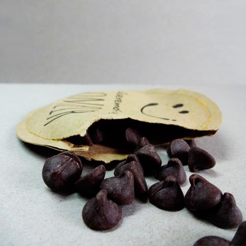 Pequeños trozos de chocolate