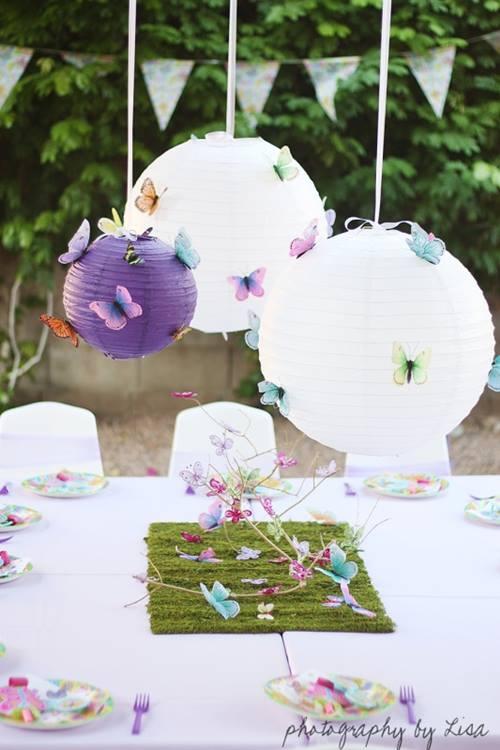 Decoración vintage para fiestas y bodas con mariposas 1