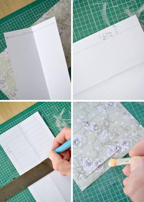 Manualidades con papel guirnalda de farolillos DIY 5
