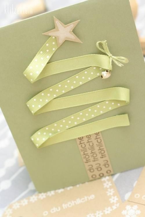 Tarjetas de navidad originales hechas a mano regalo y fiesta - Como hacer una felicitacion de navidad original ...