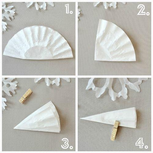 manualidades de Navidad copos de papel para decorar fiestas 2