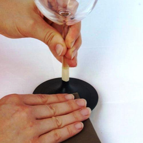 Copas de vino personalizadas con pintura de pizarra 6
