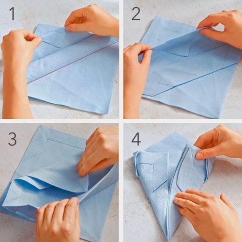 Doblar servilletas con arte 2