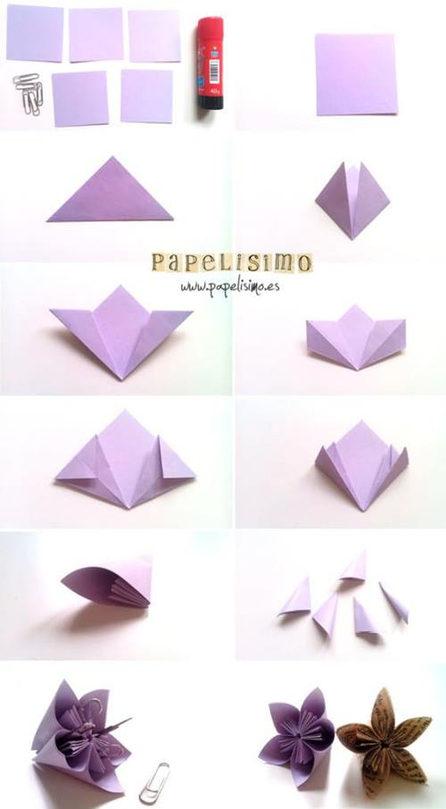 Como hacer flores de papel 2