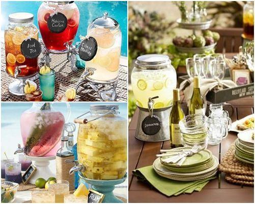 Dispensador de bebidas decorativo para bodas y fiestas 10