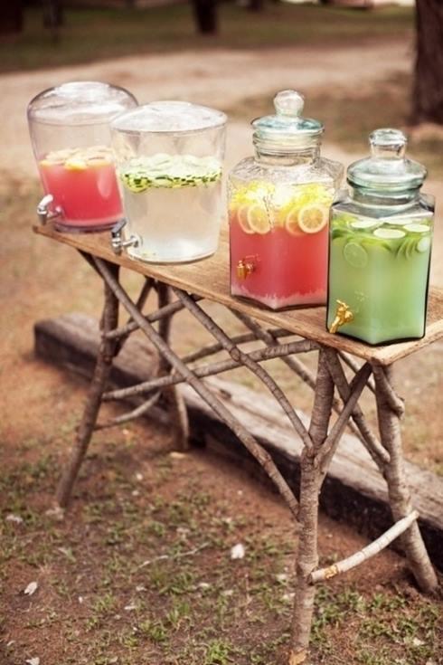 Dispensador de bebidas decorativo para bodas y fiestas 2