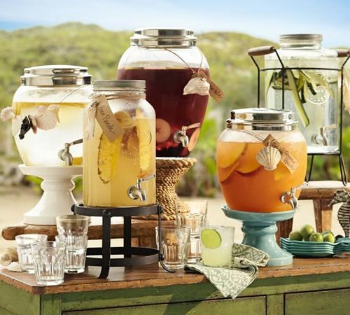 Dispensador de bebidas decorativo para bodas y fiestas 7