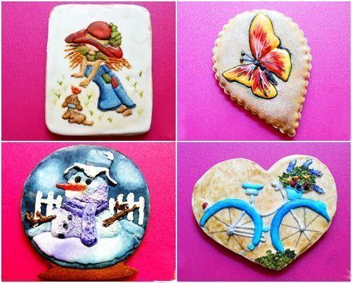 Galletas decoradas con dibujos a mano alzada 1