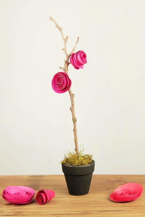 como hacer flores de papel 3