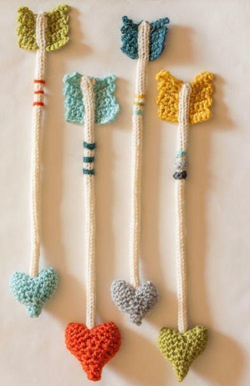 Cosas de ganchillo para regalar las flechas del amor de San Valentín 1