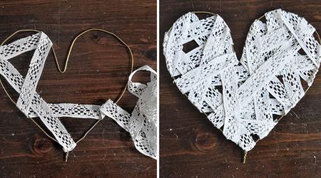 Manualidades con alambre corazones para decorar bodas, paredes... 3