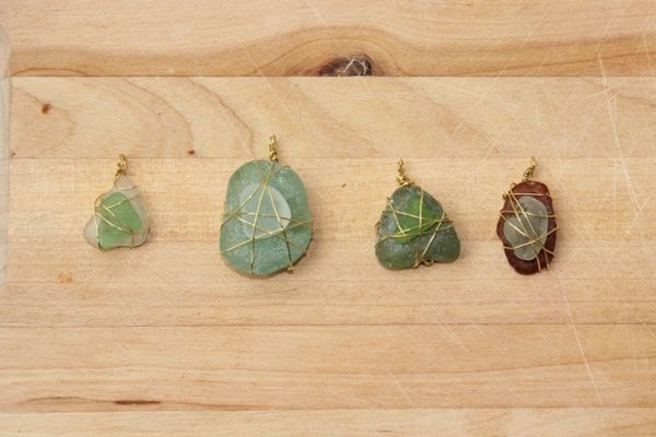 Regalos hechos a mano con vidrios marinos y alambre dulce 4