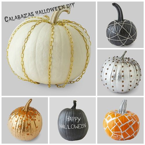 Manualidades Halloween decorar calabazas sin vaciar 1