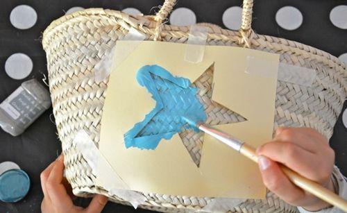 Manualidades para regalar capazo decorado con pintura de tiza 4
