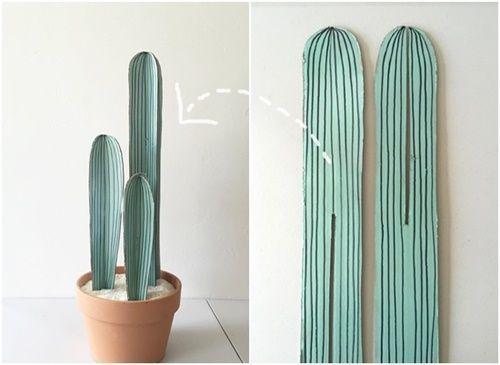 manualidades para regalar divertidas macetas de cactus de carton 5