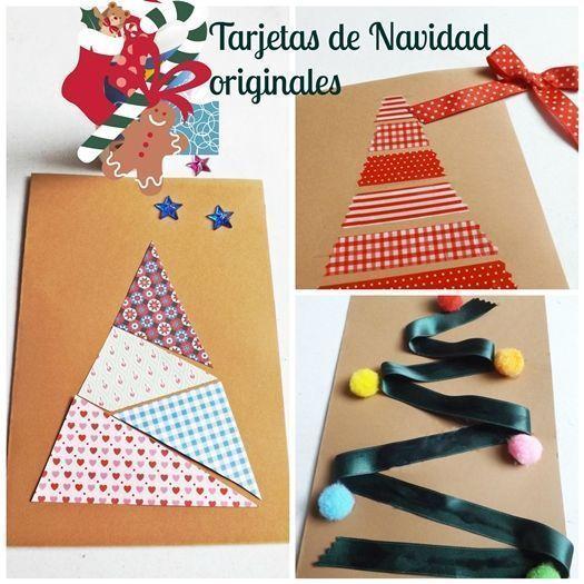 Diy 3 tarjetas de navidad originales hechas a mano for Crear tarjetas de navidad
