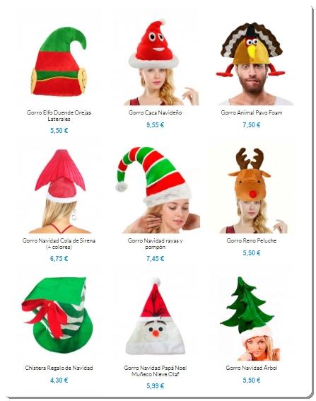 Gorros de Navidad para ideas de disfraces originales de Navidad.