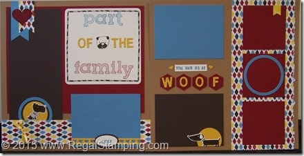 Part of the Family, Dog Scrapbook Layout 12 x 12