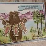 Fishing Bear, Stampin' Up! Bear Hugs