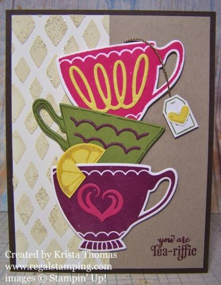Drywall Spackling Technique & Tutorial with A Nice Cuppa, Stampin' Up! by Krista Thomas, www.regalstamping.com