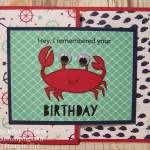 A Crabby Birthday with You're Sublime by Stampin' Up!