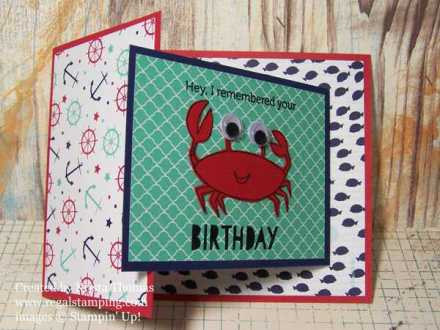 Joy Fold card by Krista Thomas, www.regalstamping.com