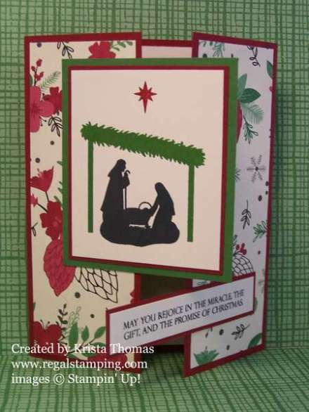 Joyful Nativity Gate Fold card, by Krista Thomas, www.regalstamping.com