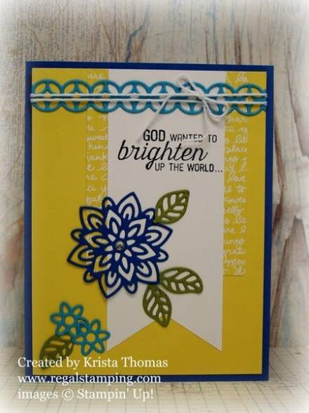 Flourish Thinlits in Brights by Krista Thomas, www.regalstamping.com