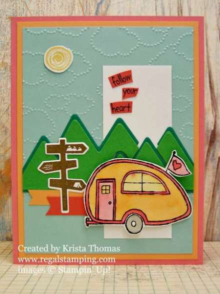 Paper Players Challenge PP305, by Krista Thomas, www.regalstamping.com, You're Sublime, Always an Adventure, all products by Stampin' Up!