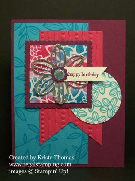 Falling Flowers, May Flowers Framelits, Irresistibly Floral DSP by Stampin' Up!  Created by Krista Thomas,www.regalstamping.com