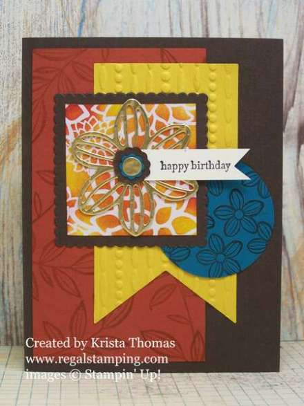 Falling Flowers with May Flower Framelits and Irresistibly Floral DSP by Stampin' Up!  Created by Krista Thomas, www.regalstamping.com