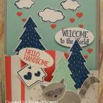Bendi Card Technique using Foxy Friends by Stampin' Up!